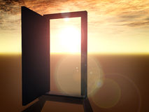 Open door. On sunset 2 Stock Images