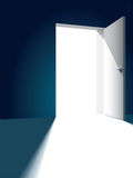 Open door royalty free illustration