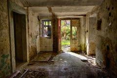 Open door. Of abandoned basement royalty free stock photo