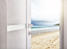 Open door with access to the beach Royalty Free Stock Photo