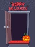 Open Door Background For Halloween Stock Images