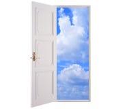 Open door in blue sky Stock Photography