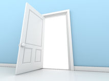 Open the door. This is a computer generated and 3d rendered picture Stock Photos