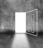 Open door in concrete wall Royalty Free Stock Photo