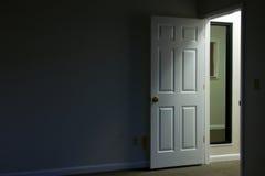 Room with door ajar stock photo. Image of open, entry