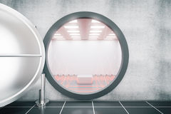 Open the door of an empty bank safe Royalty Free Stock Images