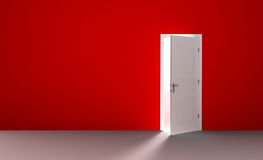 Open door in a empty room Stock Image
