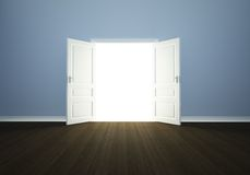 Open door in a empty room Stock Photo