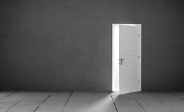 Open door in a empty room Royalty Free Stock Photo