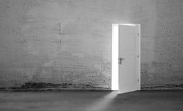Open door in a empty room Stock Photo