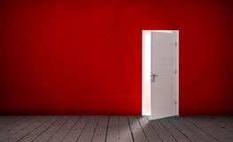 Open door in a empty room Stock Photos