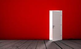 Open door in a empty room Royalty Free Stock Images