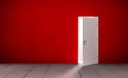 Open door in a empty room Stock Image