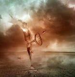 Open door fantasy. Abandone nature medow freedom sky stock photos