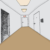 Open Door in Hallway Royalty Free Stock Photography