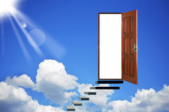 Open door in heavens Royalty Free Stock Image
