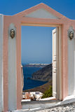 Open door with Ia view Royalty Free Stock Image