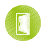 Open door icon Royalty Free Stock Photography