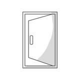 Open door icon. Over white background. vector illustration Stock Photo
