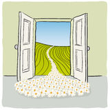 Open door. Illustration with an open door to a concept Royalty Free Stock Images