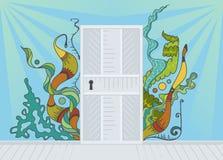 Open door of inspiration Stock Images