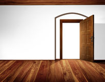 Open door interior Royalty Free Stock Images