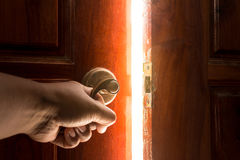 Open door light. Convey success royalty free stock photography