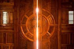 Open door light. In home royalty free stock photo