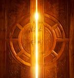 Open door light royalty free stock images