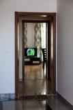Open door of a luxury apartment Stock Image