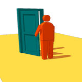 Open the Door Royalty Free Stock Photography