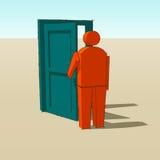 Open the door Stock Image