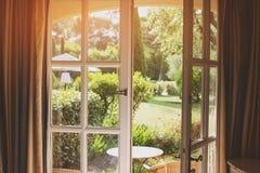 Open door and nature. Stock Photo