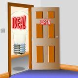 Open door for new ideas Stock Photo