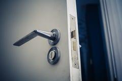 Open door at night Stock Photo