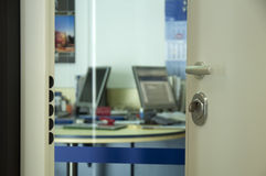 Open door in office Royalty Free Stock Photo