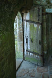 Open Door in an Old Castle in France Stock Photos