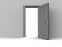 Open door of opportunity. An open door showing way to different possibilities, opening up of an opportunity concept royalty free illustration