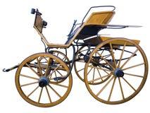 Open door paarden getrokken vervoerkant Royalty-vrije Stock Fotografie