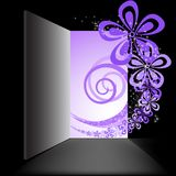 Open the door with the purple swirl Royalty Free Stock Image
