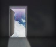 Open Door Sky Background Royalty Free Stock Image