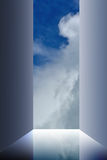 Open door sky clouds Royalty Free Stock Photography