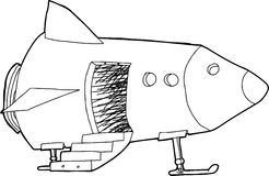 Open Door in Spaceship Stock Photography