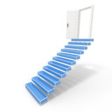 Open door into the success. Stairs in up to an open door the leader to success Royalty Free Stock Photography