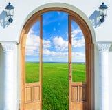 Open door sun Stock Images