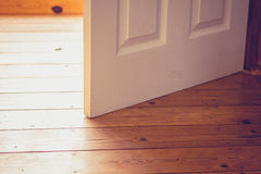 Open door on sunny day Royalty Free Stock Images
