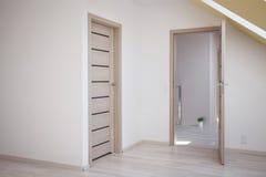 Open door to attic room Royalty Free Stock Image