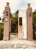 Beach door stock image