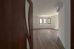 Open door to a empty room. Interior. Welcome, to new home concept Royalty Free Stock Image