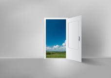 Open door to everywhere Royalty Free Stock Images
